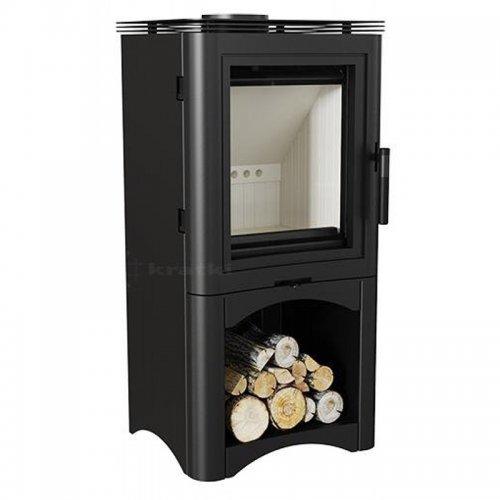 KOZA/K5/S/W - стальная печка с открытой дровницей