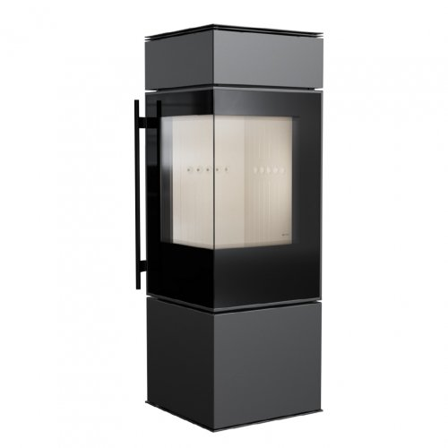 THOR - дровяная отдельностоящая печь с угловым стеклом