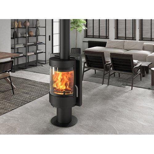 Радмила 500 D - Экономичная печка на круглой ноге, поворотный корпус