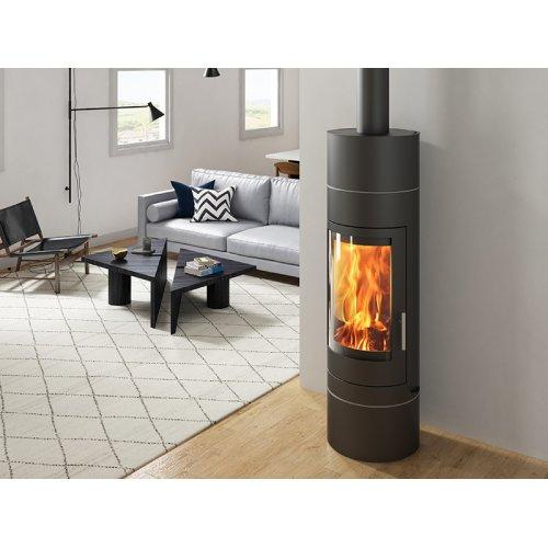 София 552 XL - Металлическая круглая печь с вертикальным стеклом