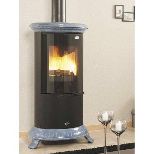 Novellus (Новеллюс) мод.400176 - Круглая печь-камин из чугуна и стали
