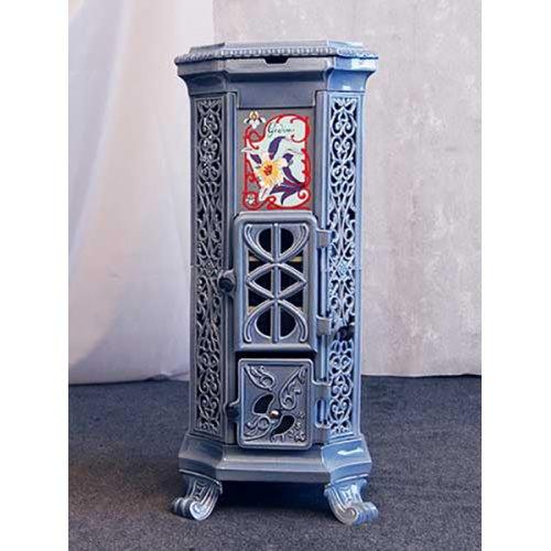 Belle Epoque (Бель Эпокь) мод.3736 - Ажурная чугунная печь с цветным корпусом