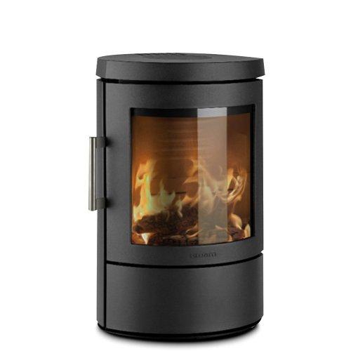 3110C - небольшая камин-печь из стали черного цвета