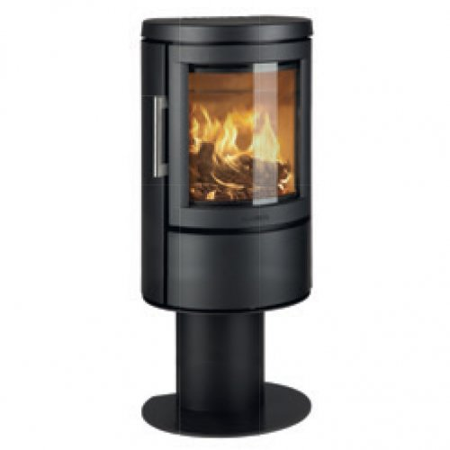 2620C - камин-печь на пьедестале, полукруглое стекло