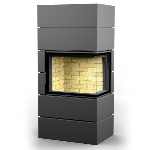 ФЕРРО П2С 700 - мощная печь с дровяной топкой, правосторонняя