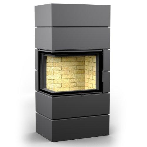 ФЕРРО П2С 700 - пристенно-угловая печь из стали, левосторонняя