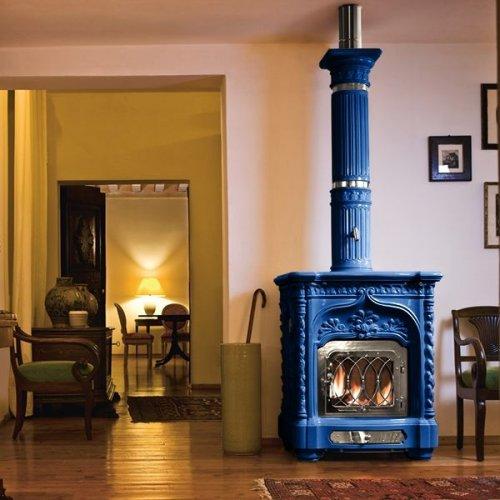 Giglio (Гиглио) - Керамическая печка с декоративными элементами из латуни