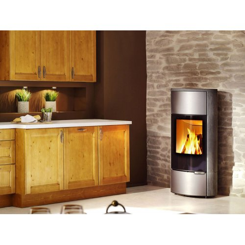 Senso L (Сенсо L) - Полукруглая печка с высоким стеклом