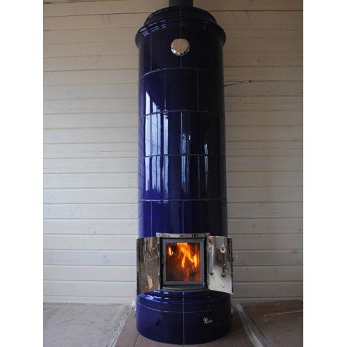 Christineberg синяя - Мощная печь с изразцовой облицовкой
