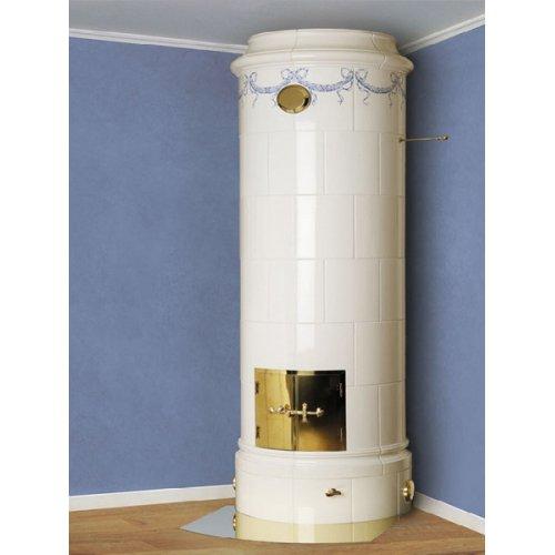 Christineberg белая - Изразцовая круглая печь для загородного дома