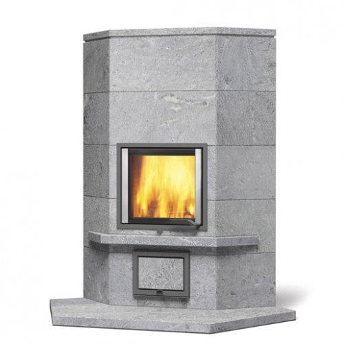 Joya angolo-1 - Угловая печь-камин с каменной облицовкой