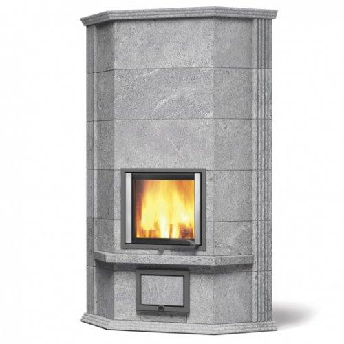 Blanka angolo-1 - Угловая каминная печь с облицовкой из камня