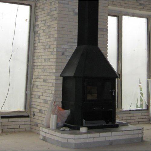 Камин-печь из жаропрочной стали