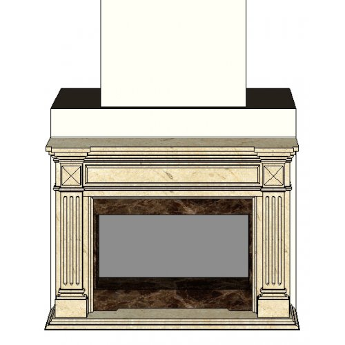 Модель с декоративными колоннами