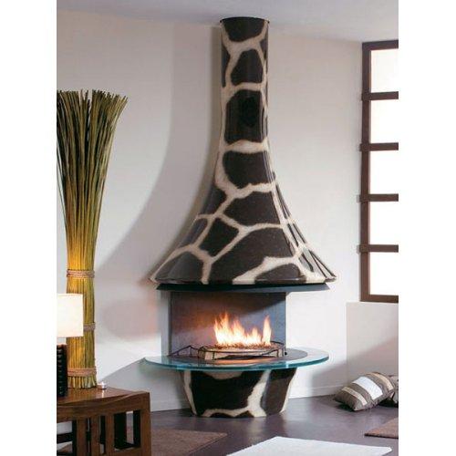 Eva 992 Giraffe  - Настенный камин с открытым очагом