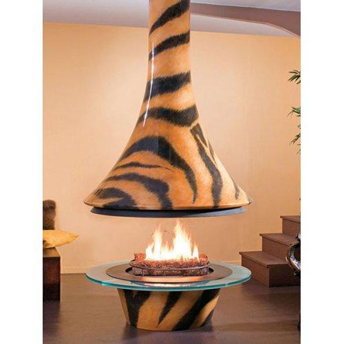 Eva 992 Tiger - Стильный камин с тигровым раскрасом