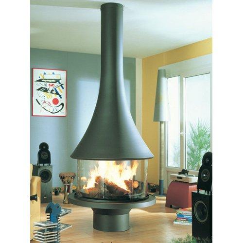 Marina 993 centrale vitree - Центральная модель дровяного камина из стали