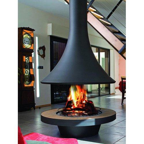 Eva 992 centrale - Круглый открытый камин с куполообразным кожухом