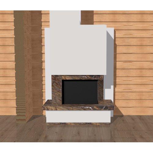 Модель дровяного камина с декоративной задней стенкой