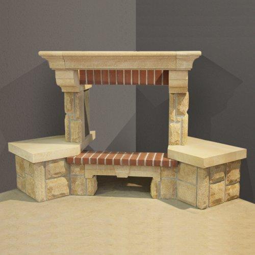Miteo (Митео) Модель из грубообработанного камня и кирпича