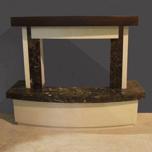 Graf (Граф) Модель пристенной каминной облицовки из камня и мрамора