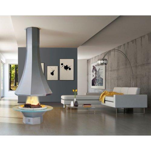 Rezza (Резза) - Модель центрального камина из стали и стекла