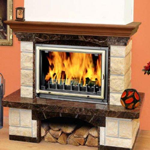 Dora Dark Chokolate 700/800 - Модель каминного портала из колотого и гладкого мрамора