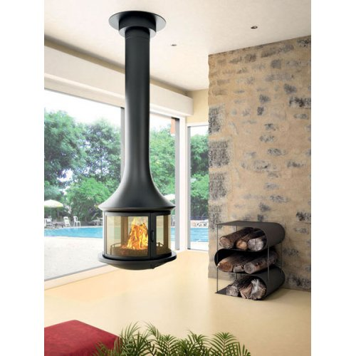 Lea 998 - Центральный камин с круговым стеклом