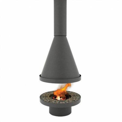 N-2 - Центральный стальной камин с круглым основанием