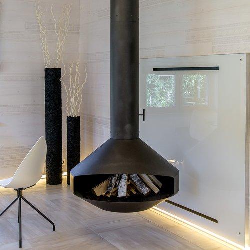 Jog (Джог) - Подвесной камин в стиле хай-тек из металла