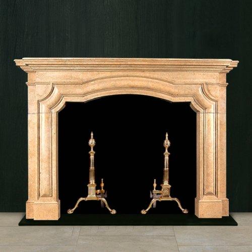 К 376 - Классический портал из мрамора Crema Marfil