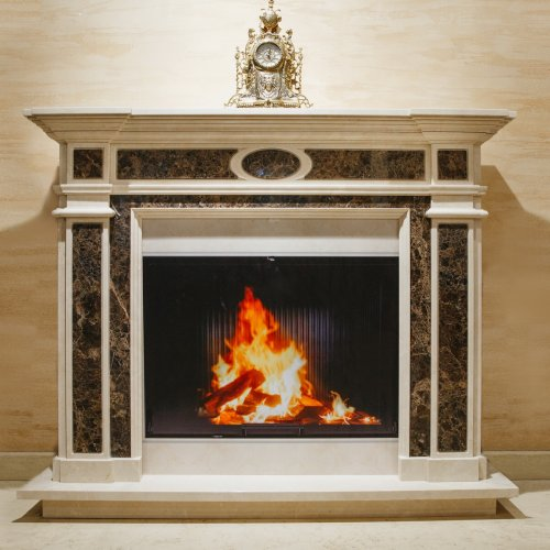 К 369 - Каминный портал из мрамора в стиле классика