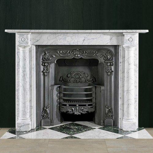 К 364 - Каминный портал из мрамора с резными элементами