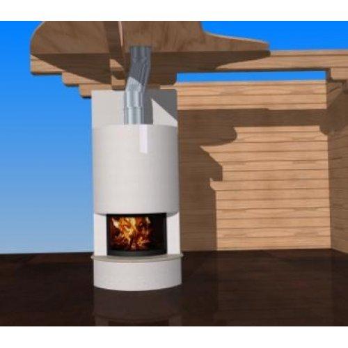 Проект 1 каминный портал цилиндрической формы