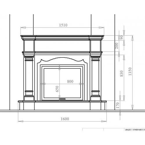 Чертёж камина проект 2 модель каминного портала с декором