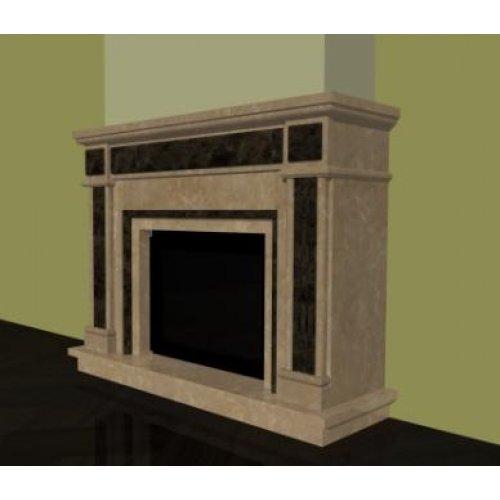 Проект 8 модель каминного портала с панорамным стеклом