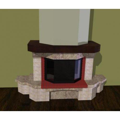Проект 12 модель пристенной облицовки камина