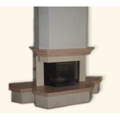 мраморный камин для установки вдоль стены