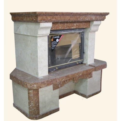 модель камина с прямым панорамным стеклом