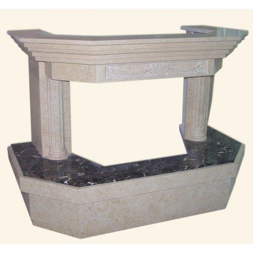 Фронтальная модель каминной облицовки, призма