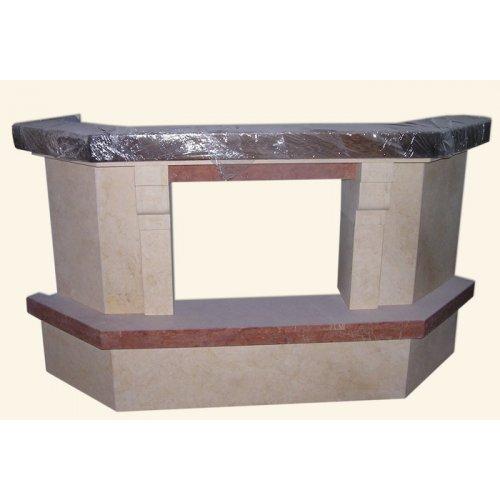 портал из мрамора для углового камина