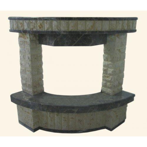 мраморный портал для углового камина
