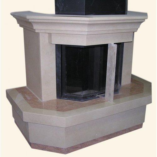 Современный камин для пристенной установки в зале