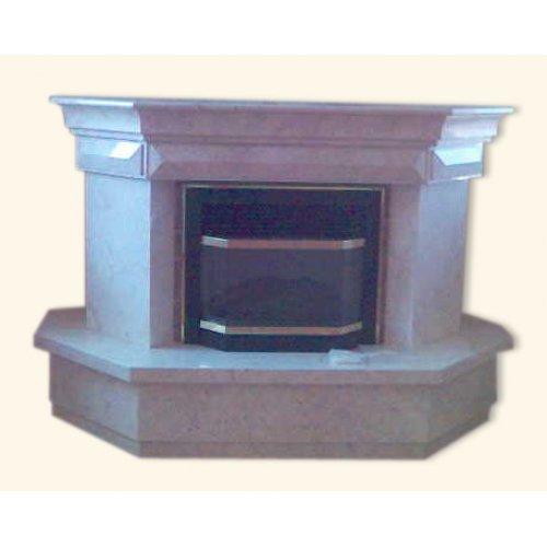 Адор фронтальный камин из светлого мрамора