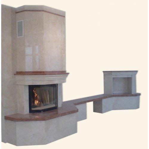 Адор мраморный каминный портал с тумбочкой