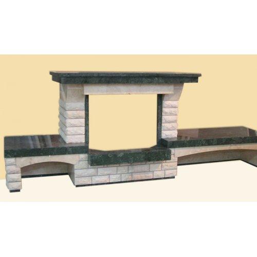 Вера каминная конструкция из колотого мрамора