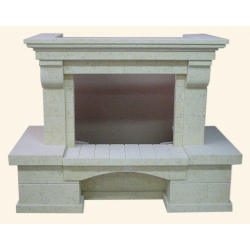 Галан фронтальный портал для камина с прямым стеклом