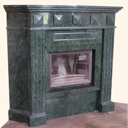 Фатон угловой камин с прямым стеклом