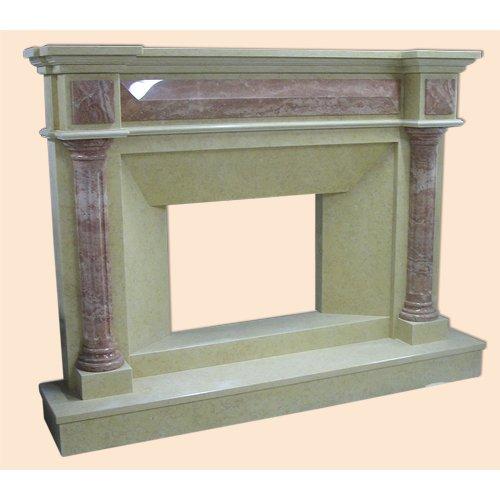 Шарлотта-5 каминное обрамление с рельефными колоннами