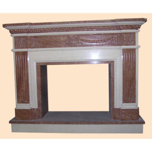 Престон с резьбой из мрамора для дровяного камина